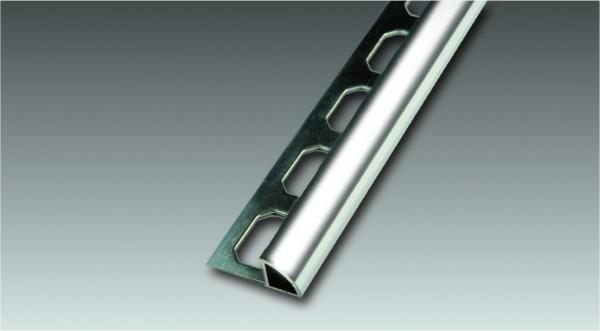Aluminium Viertelkreis-Profil, geschlossen, glänzend, Höhe 8 mm je 2,50 m