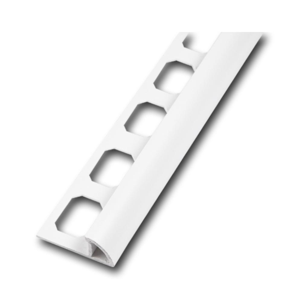 Viertelkreisprofil PVC brillantweiß