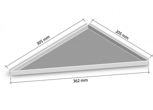 Duschablage-Eckablage zum nachrüsten links 205x305mm