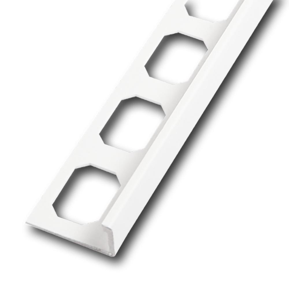 Winkelabschlussprofil PVC brillantweiß