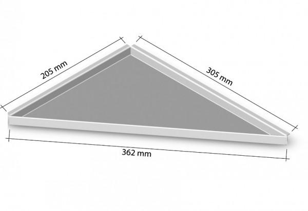 Duschablage-Eckablage zum nachrüsten rechts 305x205mm