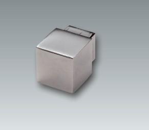Aluminium Quadroecke, silber glänzend, Höhe 9 mm